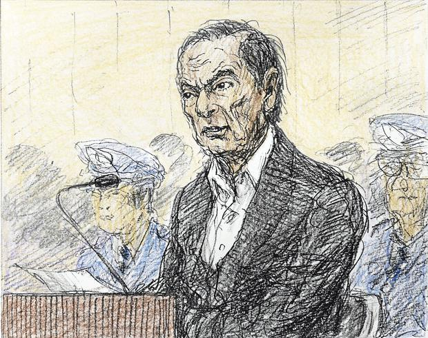 In the dock: Looking thinner after his detention, Carlos Ghosn laid out a detailed defence against charges he failed to disclose income