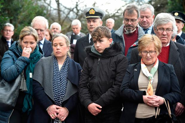 Horror: Relatives of victims of the Whiddy Island disaster attend 40th Anniversay event at Abbey Cemetery in Bantry, Co Cork. Photo: Provision