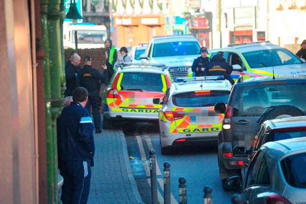 Gardaí at Bridge Street. Photo: Seamus Farrelly