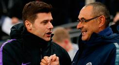 Tottenham manager Mauricio Pochettino and Chelsea boss Maurizio Sarri frustrated with the use of VAR