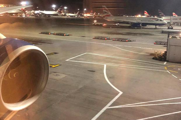 Aircraft sit on the tarmac at Heathrow