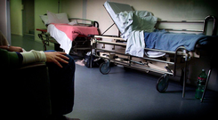 Rising: Patients are waiting on trolleys in greater numbers. (Stock picture)
