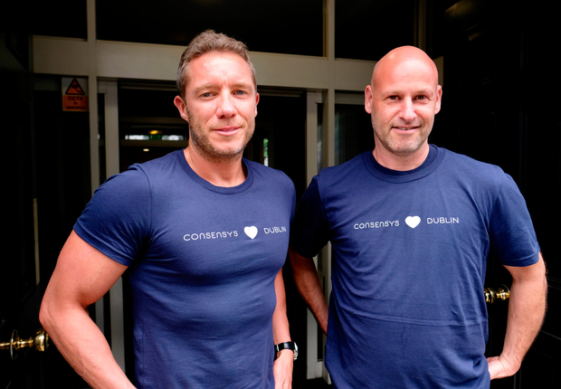 Lory Kehoe, Ireland MD of ConsenSys and its founder Joe Lubin