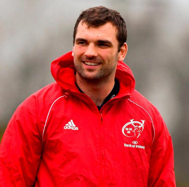 Red menace: Tadhg Beirne will be hoping to help Munster overcome Gloucester. Photo: Piaras Ó Mídheach/Sportsfile
