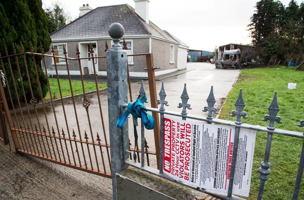 Repossessed: Guards at the home in Strokestown