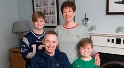Challenges: Louise and Declan Naughton from Co Kildare with sons Cillian (12) and Callum (7)