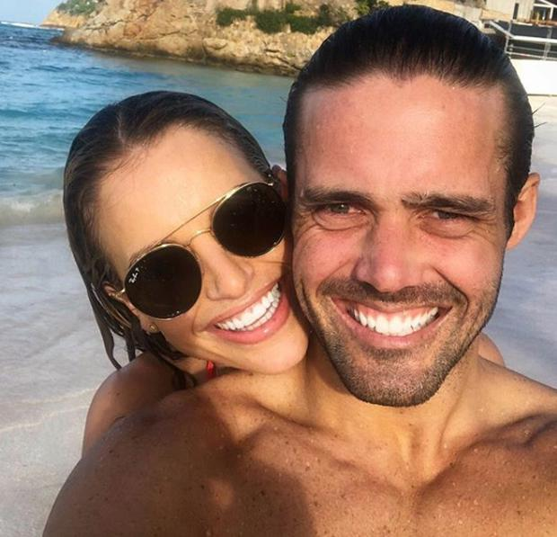 Vogue Williams and Spencer Matthews in St Barth's. Picture: Instagram