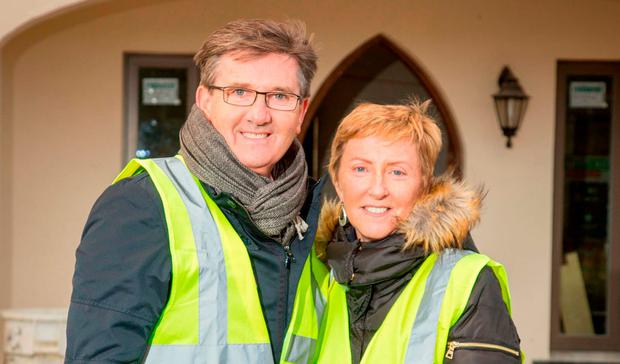 High viz: Daniel and Majella O'Donnell's stint on 'Room to Improve' was the fifth most watched event on Irish TV. Photo: James Connolly