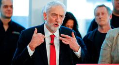 Calling for election: Labour Party leader Jeremy Corbyn. Photo: REUTERS