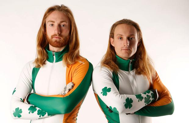 Flying the flag: Ryan and Sean McAnuff will become the first Irish skaters to compete in the same category. Photo: Getty Images
