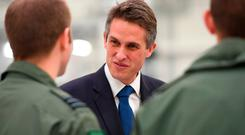 Defence Secretary Gavin Williamson during his visit to visit RAF Marham in Norfolk. Joe Giddens/PA Wire