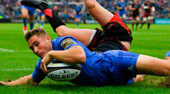 That's Larmour: Jordan Larmour believes that part of the reason for his success is because he doesn't over-think when he gets the ball in his hands