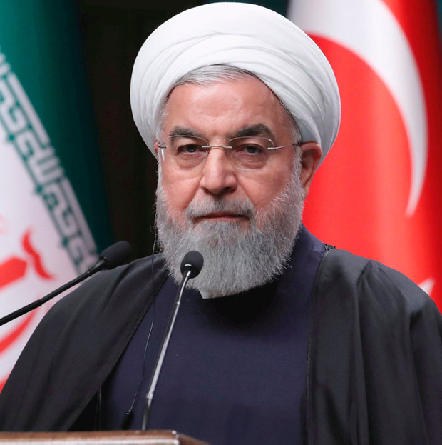 Defiant: Iranian President Hassan Rouhani on a trip to Istanbul last month. Photo: REUTERS/Umit Bektas/File Photo