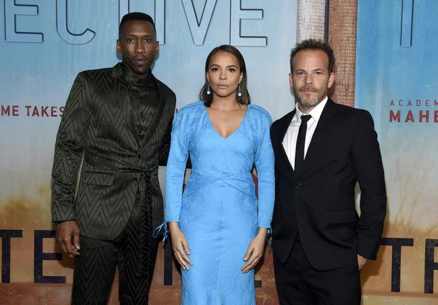Mahershala Ali, from left, Carmen Ejogo and Stephen Dorff star in True Detective season three (Chris Pizzello/Invision/AP)