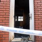 The scene of a suspected arson attack at St Margarets Avenue Photo: Justin Farrelly