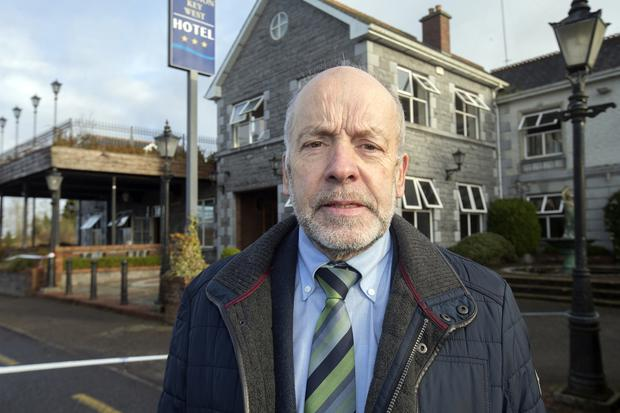 Cathaoirleach of Leitrim County Council, Sean McGowan, outside the Shannon West Hotel in Roosky. Photo: Tony Gavin 11/1/2019