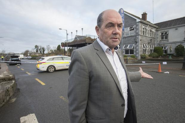 Independent councillor Enda Stenson outside the Shannon West Hotel in Roosky. Photo: Tony Gavin 11/1/2019