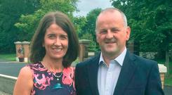 Sean Cox (right) with his wife Martina.