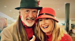 Patrick Bergin gives the thumbs up to pal Andrea Hayes's book which he will launch on Thursday