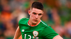Declan Rice has been assured that the Ireland manager would use him in his preferred central midfield. Photo: Stephen McCarthy/Sportsfile