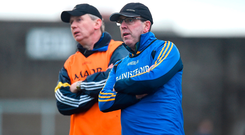 Clare are again managed this year by (left) Donal Moloney and Gerry O'Connor. Photo: Sportsfile
