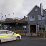 Gardai at The Shannon Key West Hotel in Rooskey which was damaged by fire.