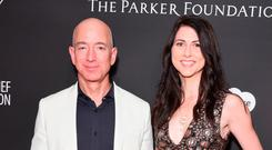 Split: Jeff Bezos and wife MacKenzie are divorcing. Picture: Getty