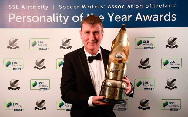 Stephen Kenny wins the SSE Airtricity/SWAI Personality of the Year for 2018 after his impressive final year as Dundalk boss