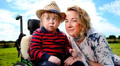 'No will to make it available for free': Aisling McNiffe and her son Jack (13), who has Down syndrome. Photo: Gerry Mooney