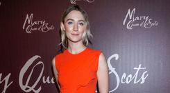 Saoirse Ronan at the premiere of 'Mary Queen of Scots' in the Stella Cinema, Rathmines, Dublin. Picture: Kyran O'Brien