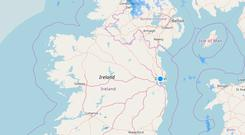 Latest weather radar from Met Eireann