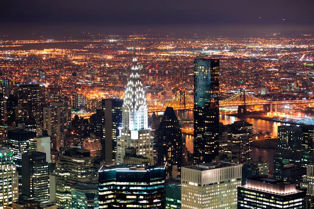 Johnny Ronan is interested in acquiring the Chrysler Building (centre) in New York