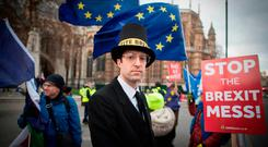 TENSIONS: As both sides of the Brexit debate argue their case, delaying or cancelling the UK's departure from the EU could trigger an unprecedented backlash. Picture: Stefan Rousseau/PA Wire