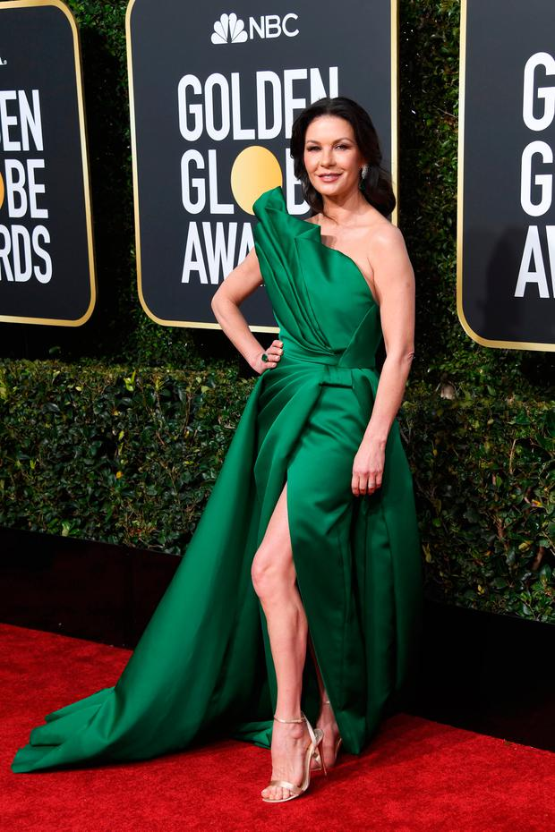 Catherine Zeta-Jones attends the 76th Annual Golden Globe Awards at The Beverly Hilton Hotel on January 6, 2019 in Beverly Hills, California. (Photo by Frazer Harrison/Getty Images)