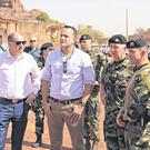 Overseas trip: Taoiseach Leo Varadkar accompanied by minister Paul Kehoe and members of the Irish Defence Forces during his week-long tour of Africa last week