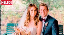 'Downton Abbey' star Allen Leech and his new bride Jessica Blake Herman. Photo: Hello! Magazine/PA