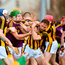 Wexford and Kilkenny players tussle at yesterday's clash. Photo by Matt Browne/Sportsfile