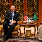 Mike Pompeo meets with Saudi Arabia's Minister of State for Foreign Affairs Adel al-Jubeir. Photo: Andrew Caballero-Reynolds/Pool via Reuters