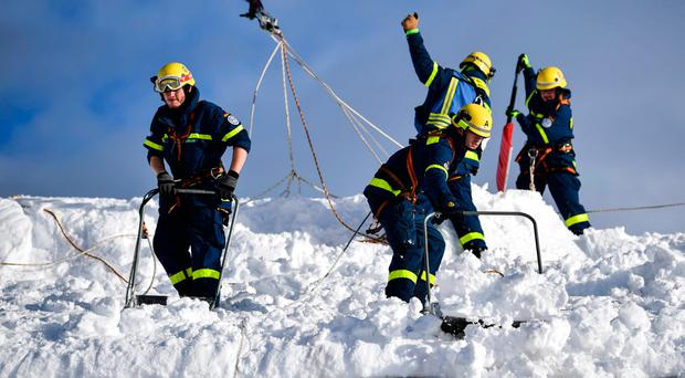 Blast to trigger avalanche kills two workers at Alps ski resort