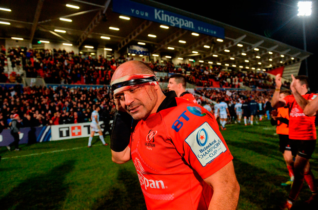 Rory Best sporting the scars of battle. Photo by Oliver McVeigh/Sportsfile
