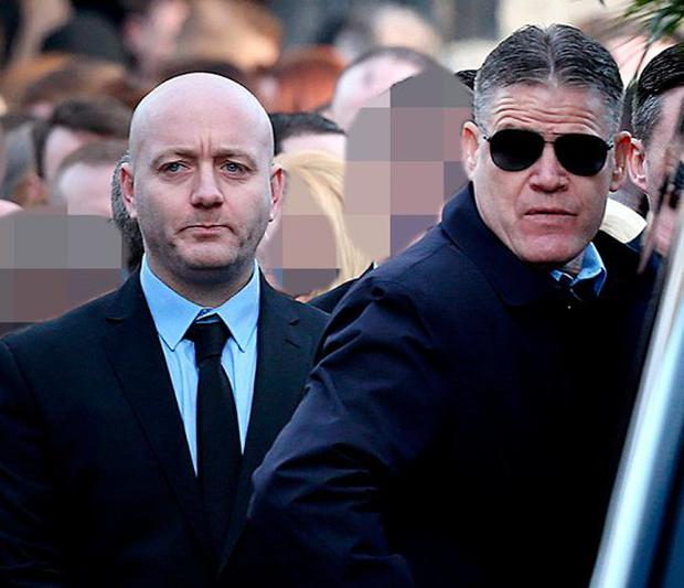 Freddie Thompson and Thomas Kavanagh at David Byrne's funeral