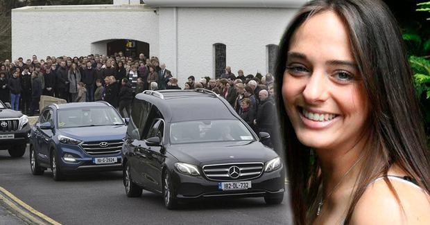 The funeral of Dawn Croke (inset) took place in Dungloe in Donegal. Photo: Colin O'Riordan