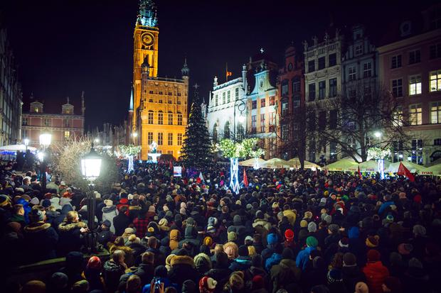 People march against violence and hatred in the wake of a deadly attack on Gdansk Major Pawel Adamowicz who was stabbed on stage of a public charity event in Gdansk Poland