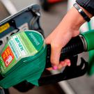 A litre of petrol is now 132.9c countrywide, the lowest price it has been since August 2017. Photo: PA