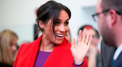 Meghan, Duchess of Sussex during a visit to the Hive, Wirral Youth Zone as part of a visit to Birkenhead on January 14, 2019, in Birkenhead, United Kingdom. (Photo by Danny Lawson WPA Pool/Getty Images)