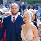 James Haskell and Chloe Madeley (Ian West/PA)