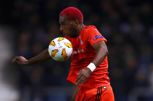 Ryan Babel of Besiktas in action