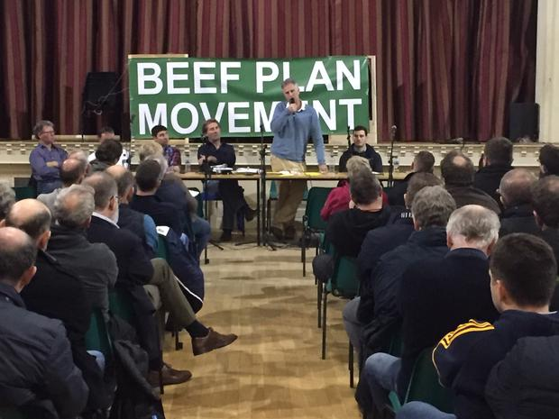 Eamon Corley addresses farmers in Holycross