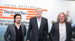 Richard Hammond, Jeremy Clarkson and James May attending a launch event and screening of The Grand Tour Series 3 screening at The Brewery, London. (Ian West/PA)
