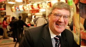 Winning feeling: Pat McDonagh inside the O'Connell Street branch of Supermac's. Photo: Gerry Mooney